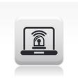 web alarm icon vector image vector image