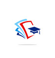 education college data logo vector image