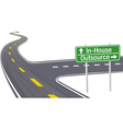Highway sign vector image