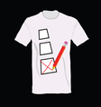 T-shirt with ticking vector image