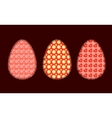 Three Easter eggs 2 vector image