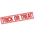 Trick or treat stamp vector image