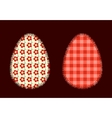 Two Easter eggs vector image
