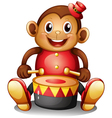 A musical monkey toy vector image vector image