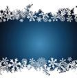 Christmas border snowflake design background vector image