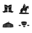 military boots a monument to the rider a vector image vector image