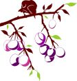bird on a plum branch vector image vector image