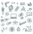 school objects set vector image