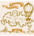 vintage travel background vector image