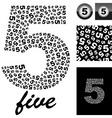 five vector image vector image