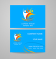 team company logo identity template vector image vector image