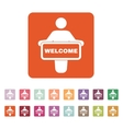 The welcom icon Invite symbol Flat vector image