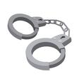 Handcuffs cartoon icon vector image