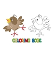 Small funny sparrow coloring book vector image