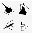 Hand with medical equipment vector image vector image
