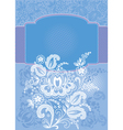 Decorative floral blue background vector image vector image