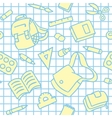 School pattern with education supplies vector image