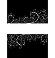 beautiful floral frame vector image