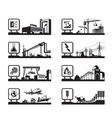 Different industries with logos vector image