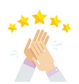 hands applaud positive five star feedback vector image