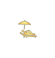 lounger computer symbol vector image