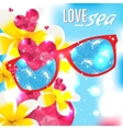Love and the sea summer light vector image