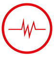 pulse signal rounded icon vector image