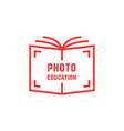 simple photo education logo vector image