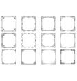 Thin line geometric frames linear frames vector image