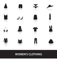 womens clothing icons eps10 vector image
