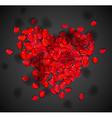 Heart of rose petals vector image vector image