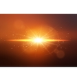 star sun with lens flare vector image