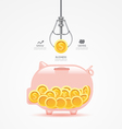 Infographic business claw game with coin piggy ban vector image