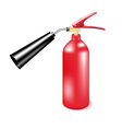 Red metal fire extinguisher vector image