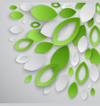 paper leaves5 vector image vector image