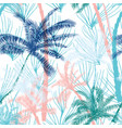Beautiful exotic tropical summer pattern vector image
