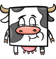 square cow cartoon vector image
