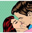 Pop Art KIssing Couple vector image