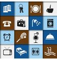 hotel and accommodation icons vector image