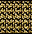 background of glitter golden leaves vector image