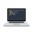code on the screen laptop vector image