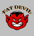 fat devil face vector image