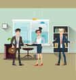 office people teamwork brainstorming in flat vector image