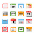 set of different calendars in flat style vector image