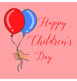 happy childrens day design style vector image