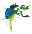 Beautiful traced watercolor splatter vector image