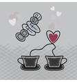A cup of coffee logo design element vector image