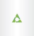 green triangle gradient logo design element vector image