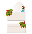 envelopes with christmas design elements vector image vector image