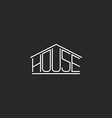 House logo hipster monogram lettering graphic word vector image